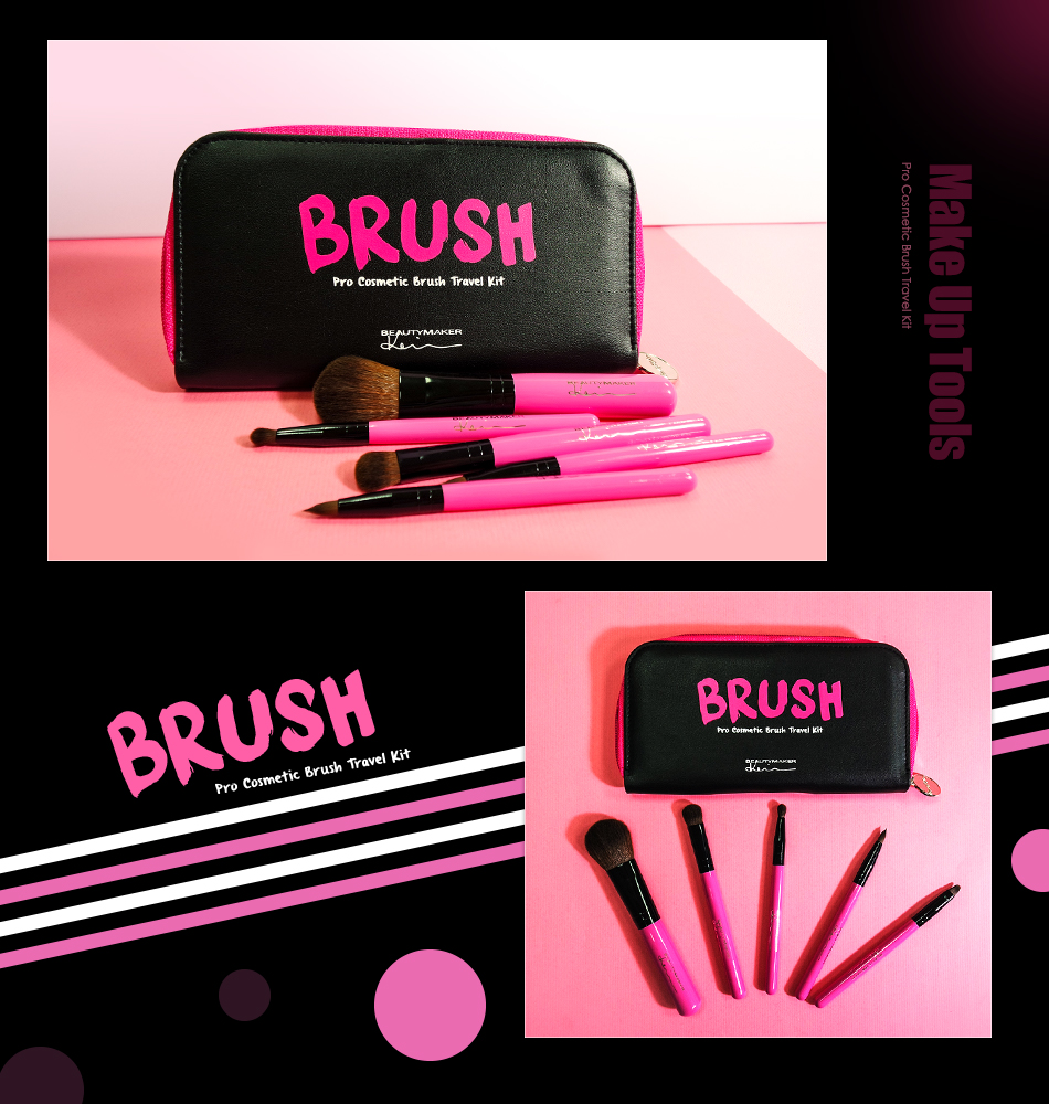 Cosmetic Brush Travel Kit - Product Packaging