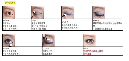 Big Eyes Eyeshadow Palette - How to use