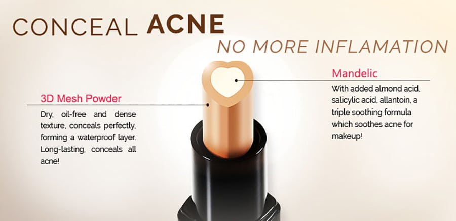 Acne Solutions Clearing Concealer - Product Features