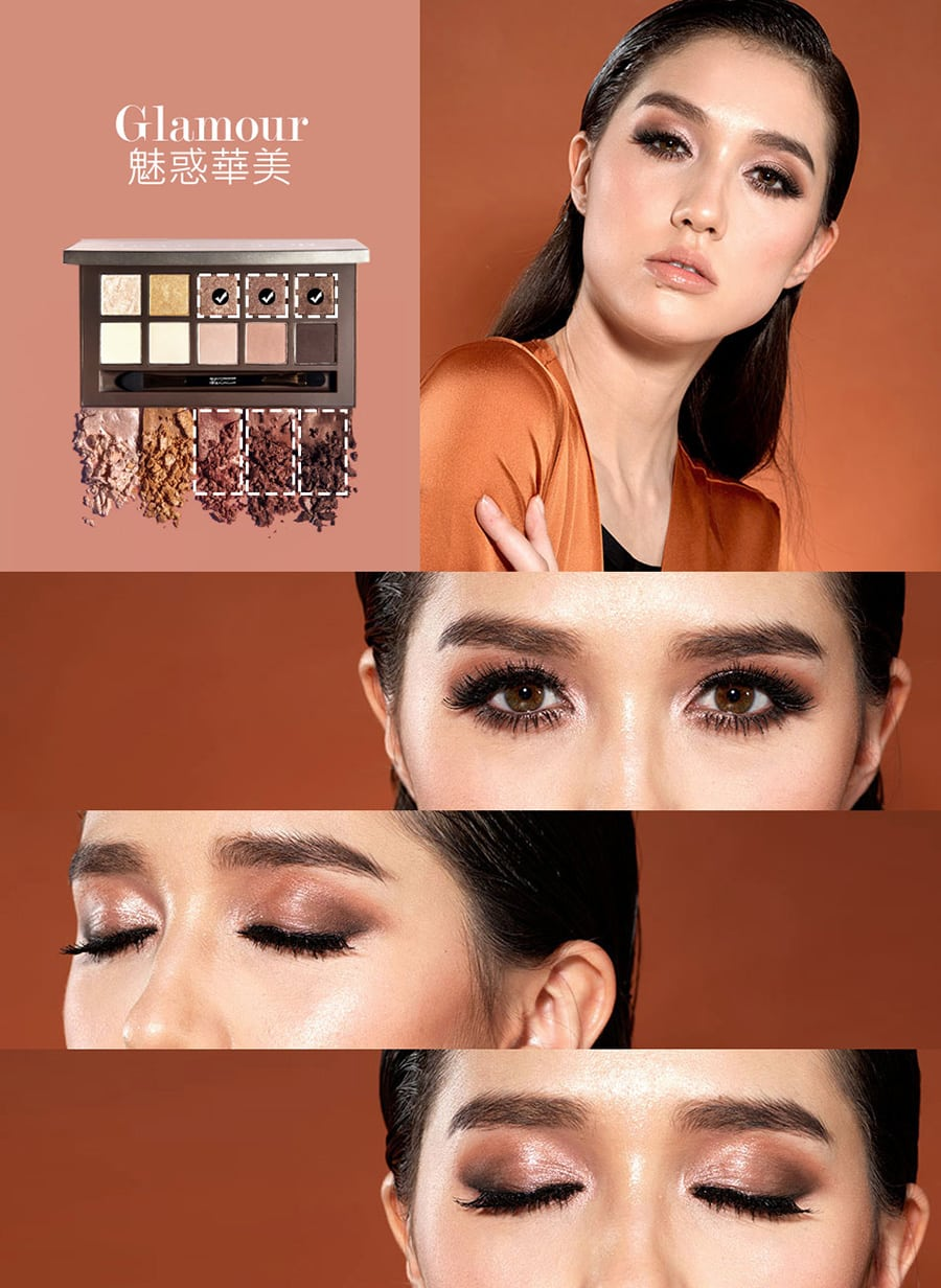 Duo Texture Eyeshadow Palette - Product Colour 01