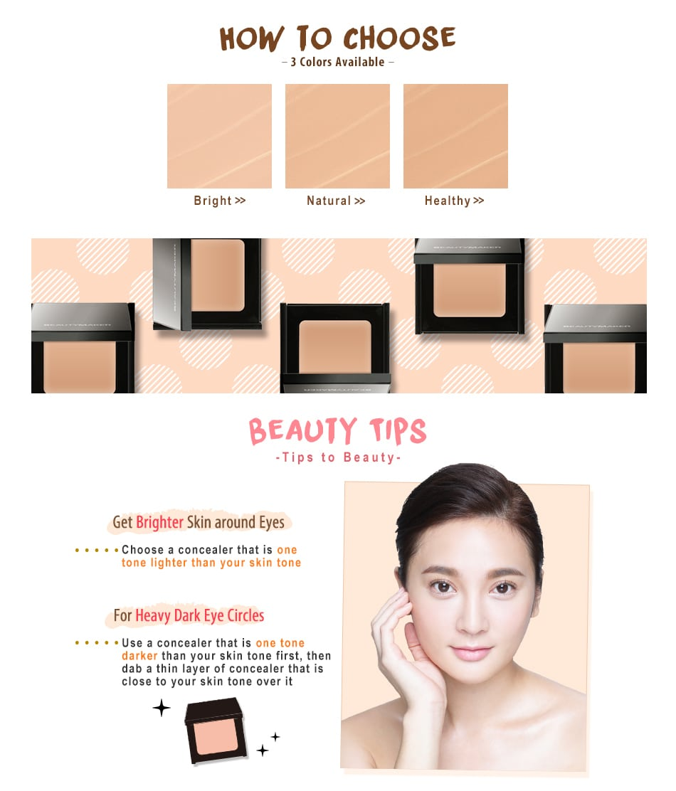 Beautymaker Impeccable Triple Concealer - Product Colors & Tips