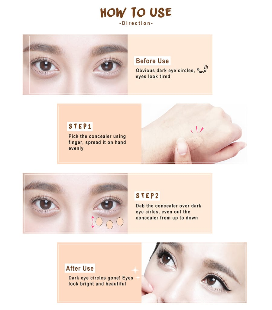 Beautymaker Impeccable Triple Concealer - How to use