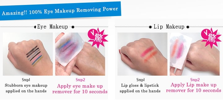 Eye Makeup Remover - Product Usage