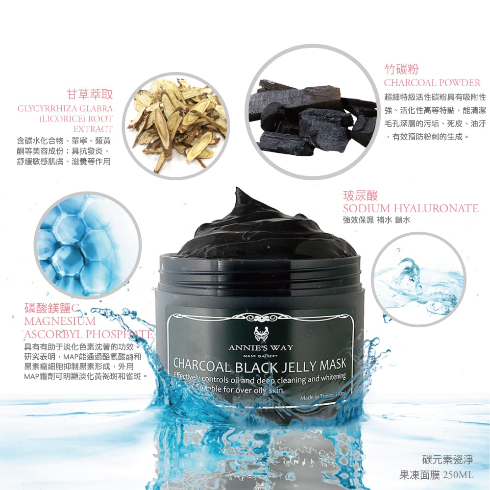 Charcoal Black Jelly Mask - Product Description