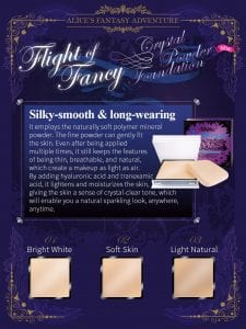 Flight of Fancy Crystal Powder Foundation - Introduction 5
