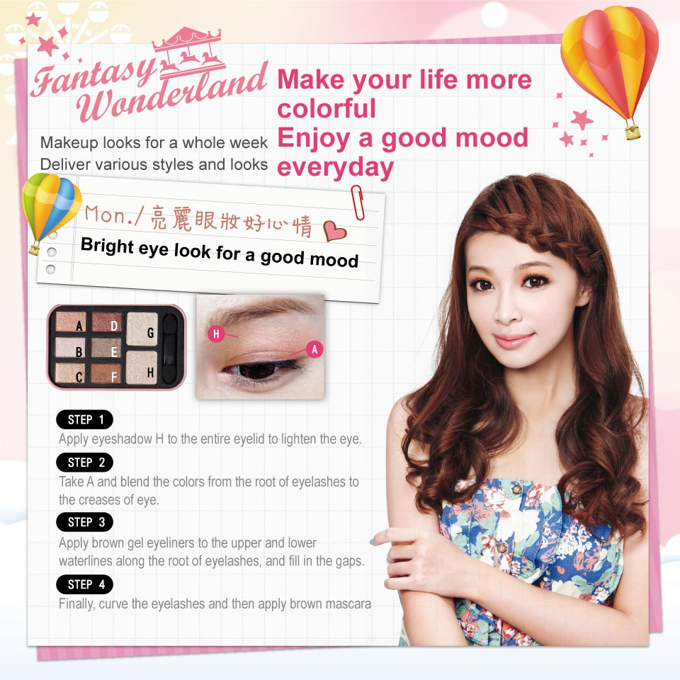 Fantasy Wonderland Eyeshadow Kit - Steps