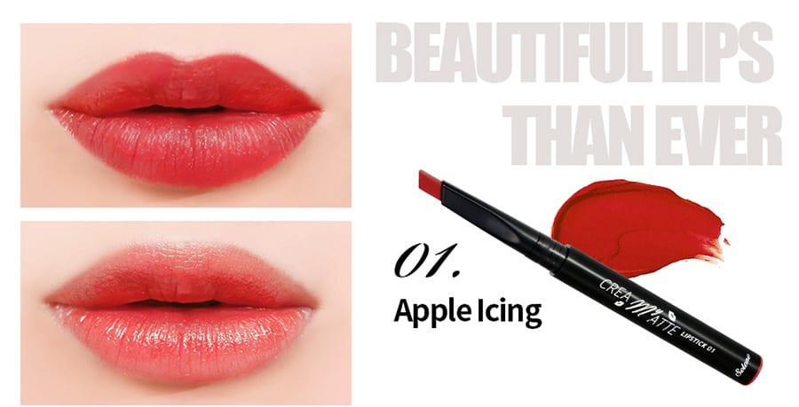 Creamy Matte Lipstick - Colour 01