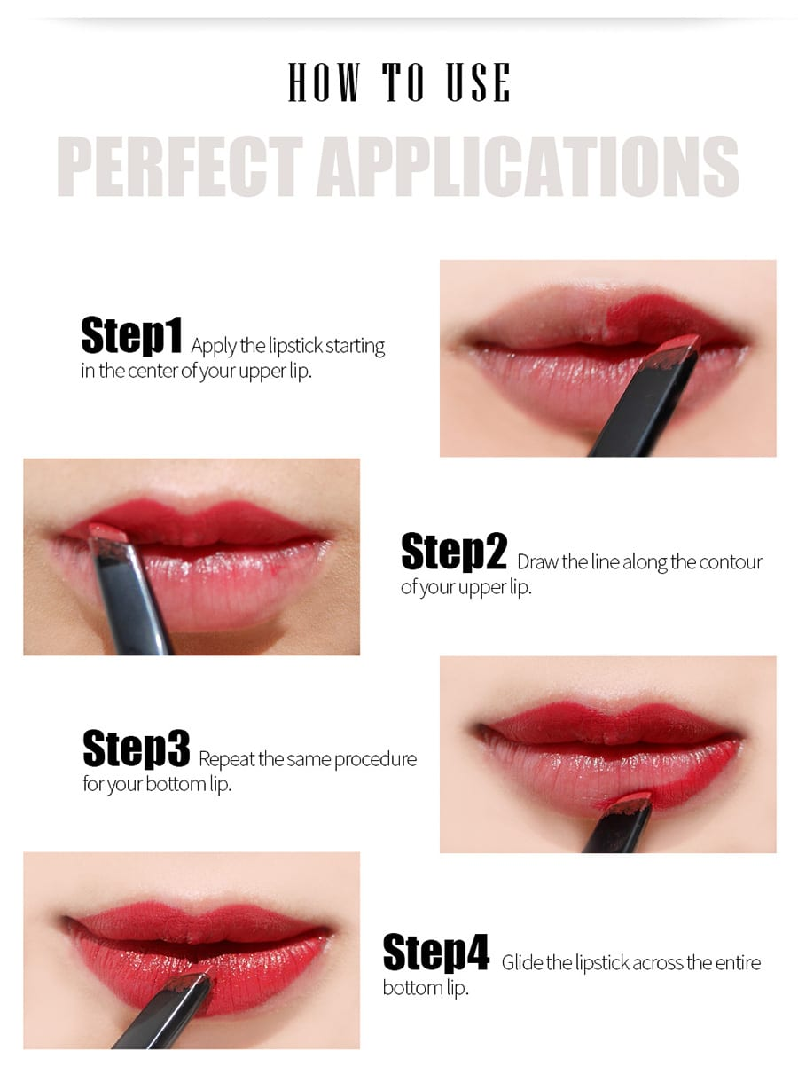 Creamy Matte Lipstick - How to use 1