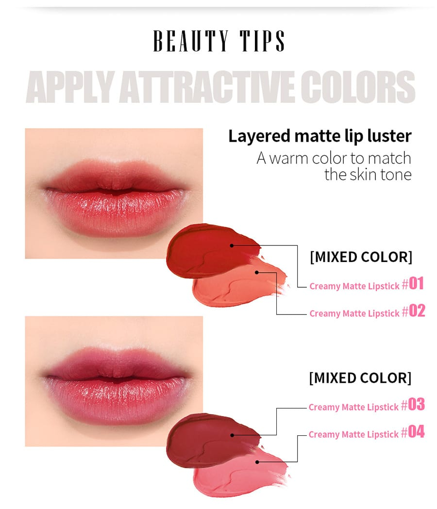 Creamy Matte Lipstick - How to use 2