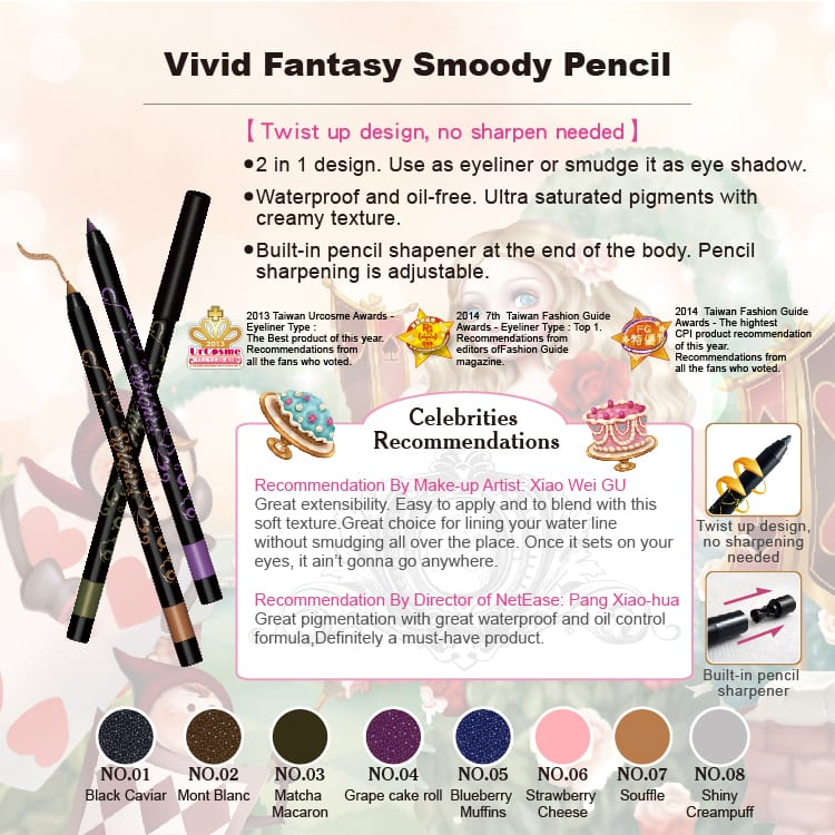 Vivid Fantasy Smoody Pencil - Product Feature 01