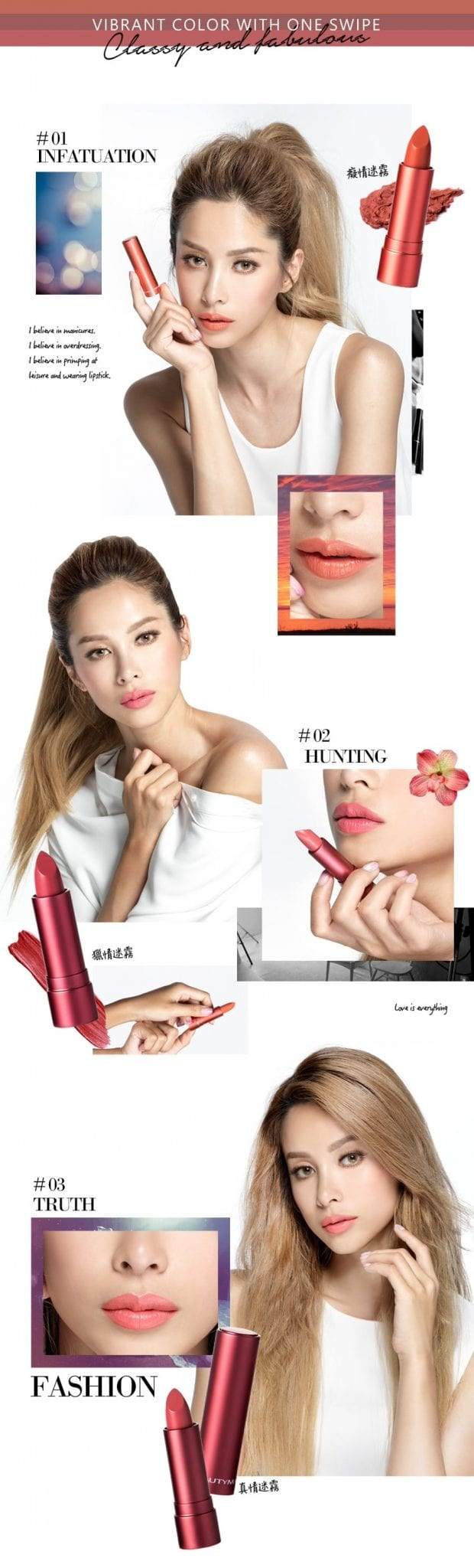Long-Wear Velvet Lipstick - Product Colors
