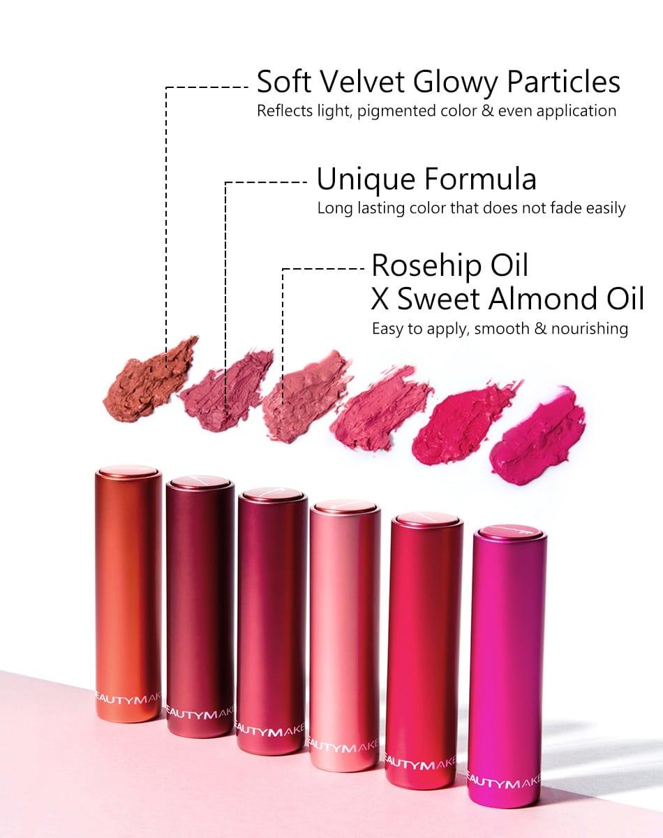 Long-Wear Velvet Lipstick - Product Benefits 01
