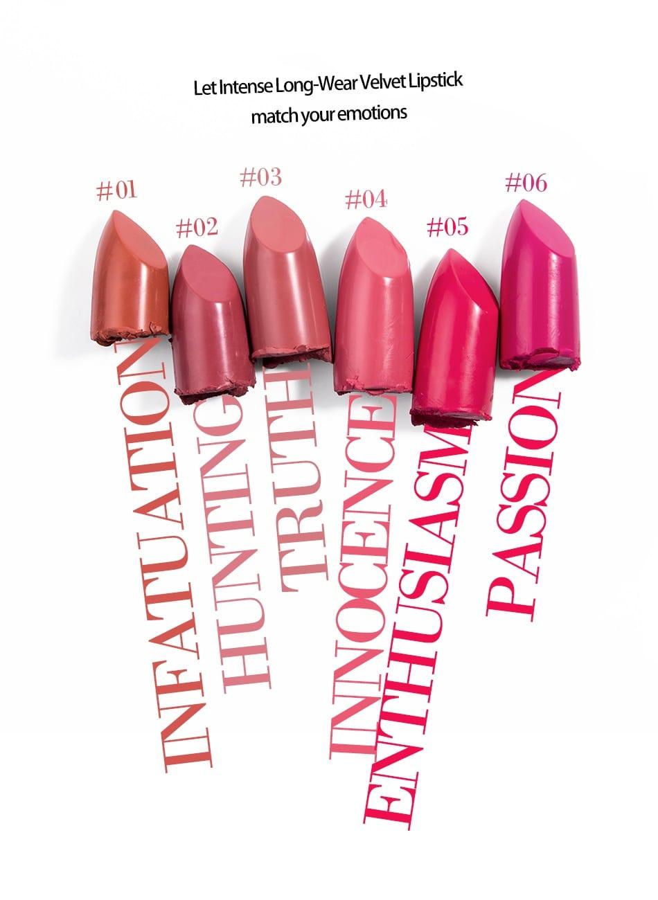 Long-Wear Velvet Lipstick - Product Colors 02