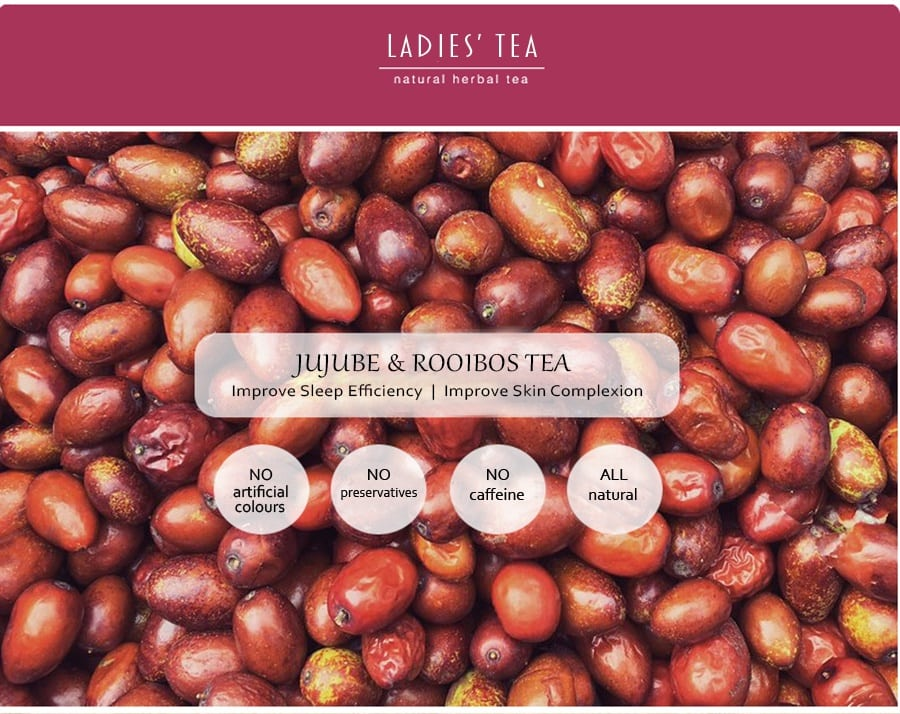 Jujube Rooibos Tea Packet - Info 1