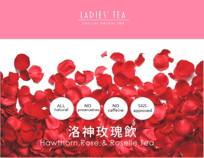 Hawthorn Rose Roselle Tea Packet - Info 1
