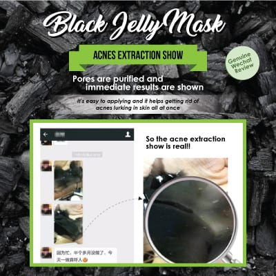 Black Jelly Mask - Acne extraction show