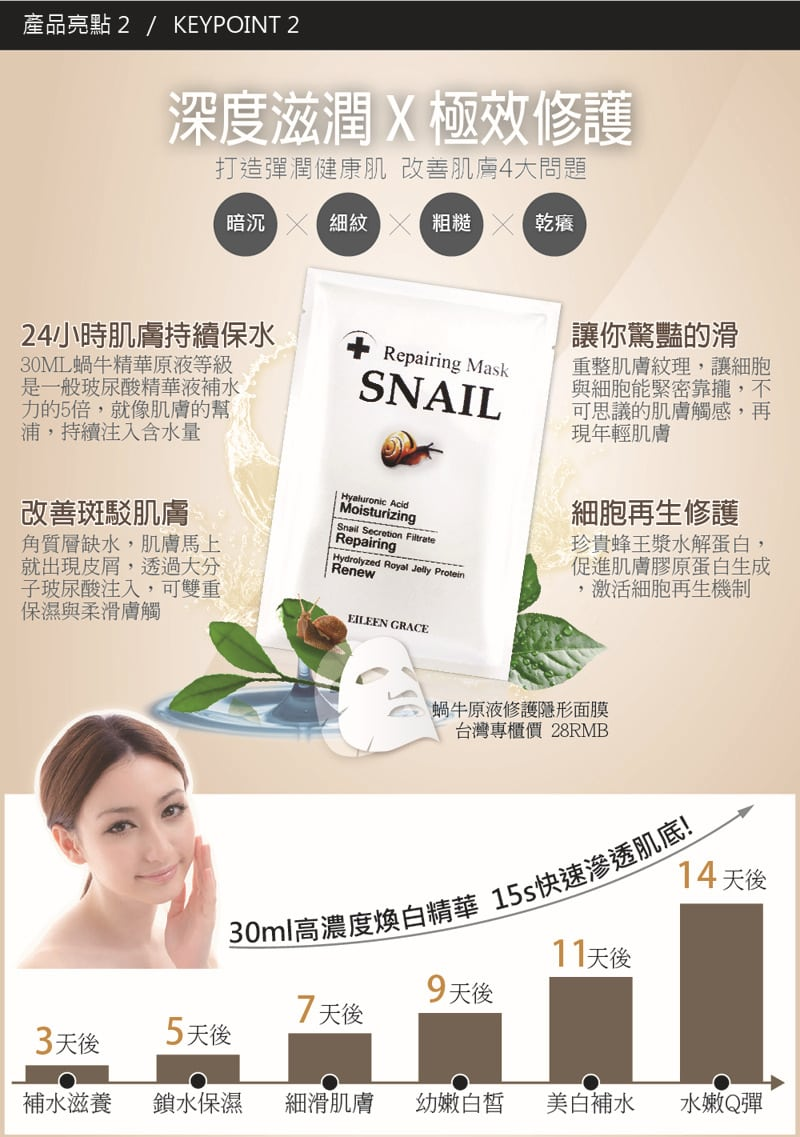Almighty Snail Repairing Mask - Product Benefits 01