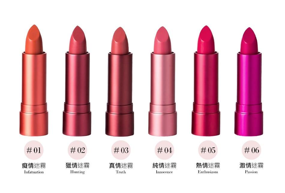 Long-Wear Velvet Lipstick - Color Details