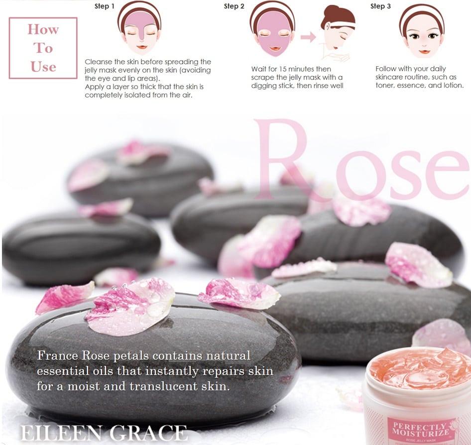 Moisturize Rose Jelly Mask - Product Usage 01