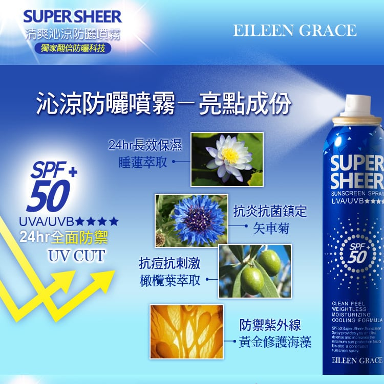 Sheer Sunscreen Spray Travel - Product Ingredients
