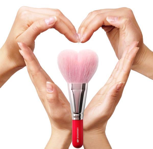 Pink Heart Brush - Poster