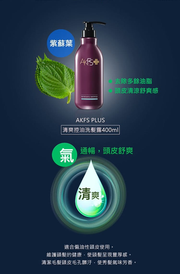 AKFS PLUS Refreshing Shampoo - Product Details