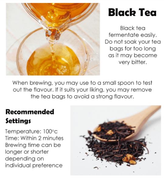 Caramel Apple Black Tea Packet - Tea info