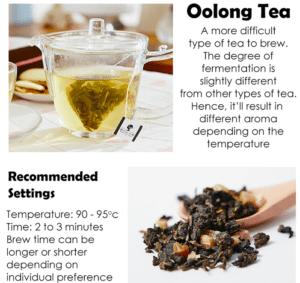 Osmanthus & Oolong Tea Packet - Tea info