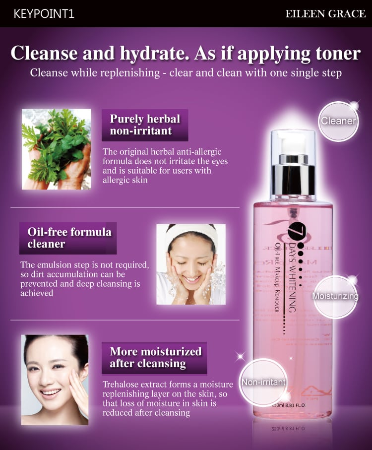 Oil-Free Makeup Remover - Product Benefits