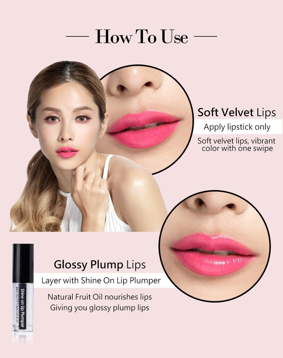 Long-Wear Velvet Lipstick - How to use