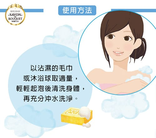 Savon De Bouquet Body Wash - How to use