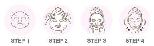 Kokutousei KT Hakkou E Sheet Mask - How to use