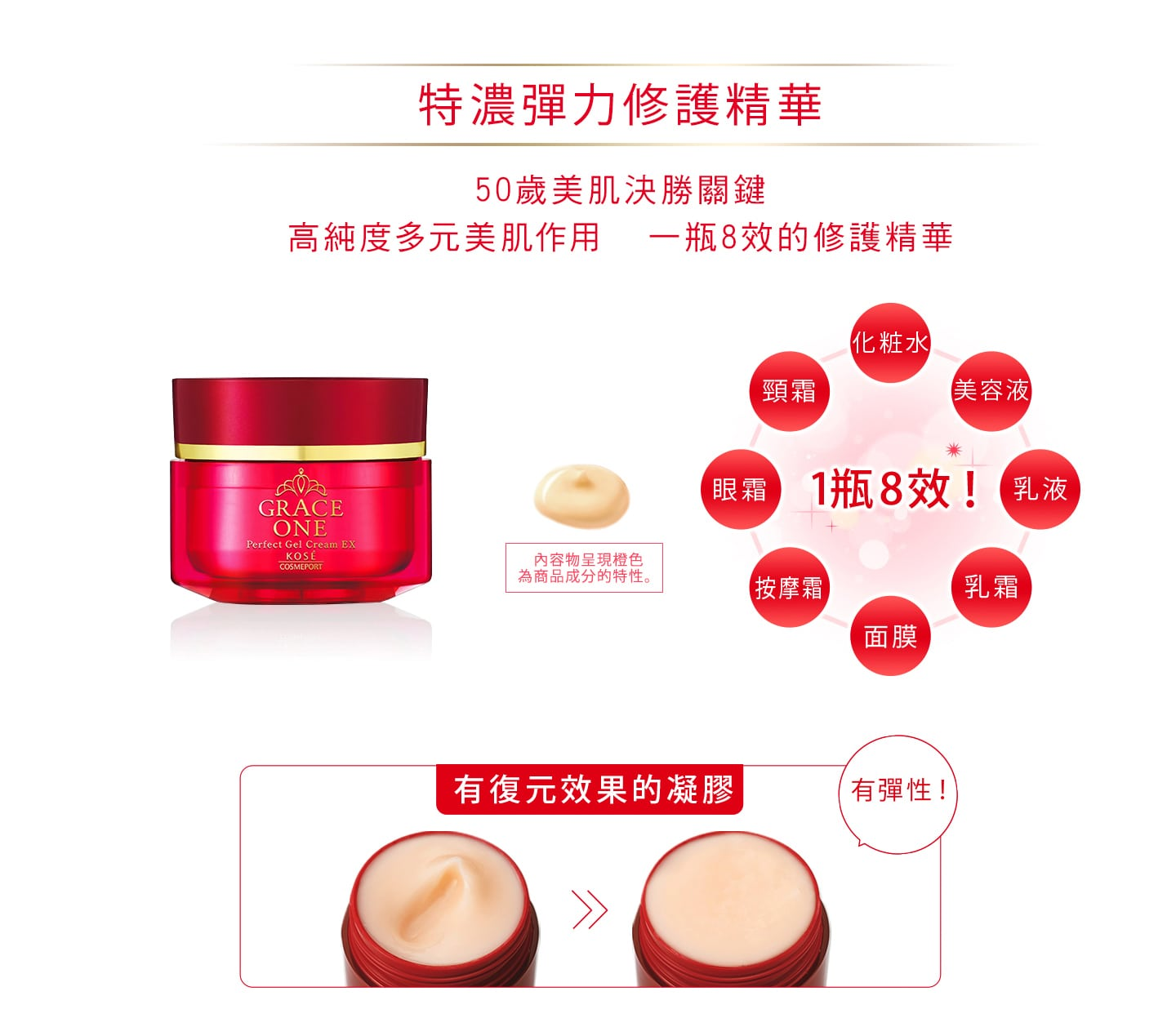 Grace One Perfect Gel Cream EX - Feature 2