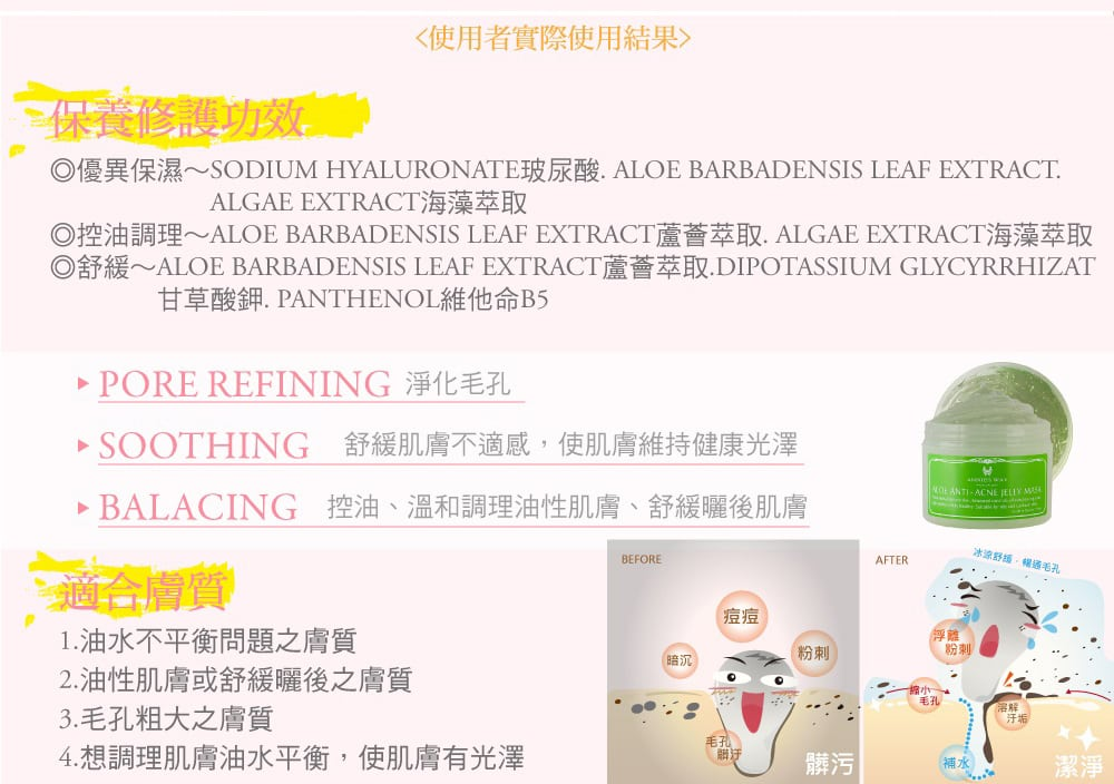 Annie's Way Jelly Mask - Product Benefits 03