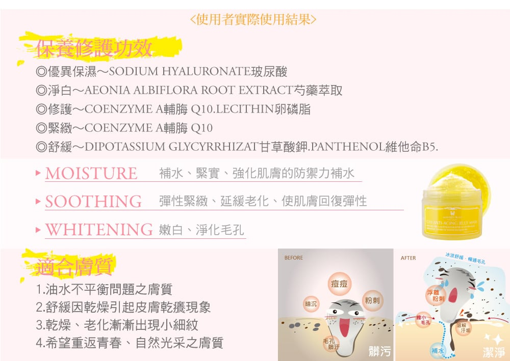 Anti-Aging Jelly Mask - Product Benefits 02
