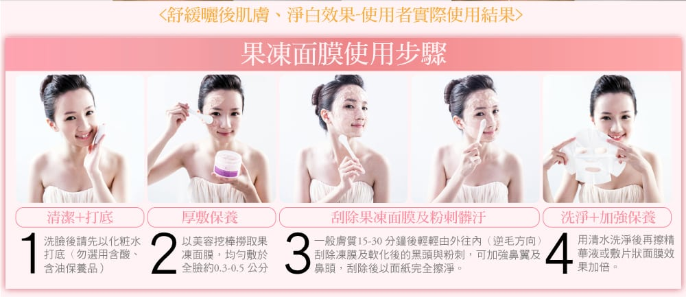 Snail Repairing Jelly Mask - Product Usage