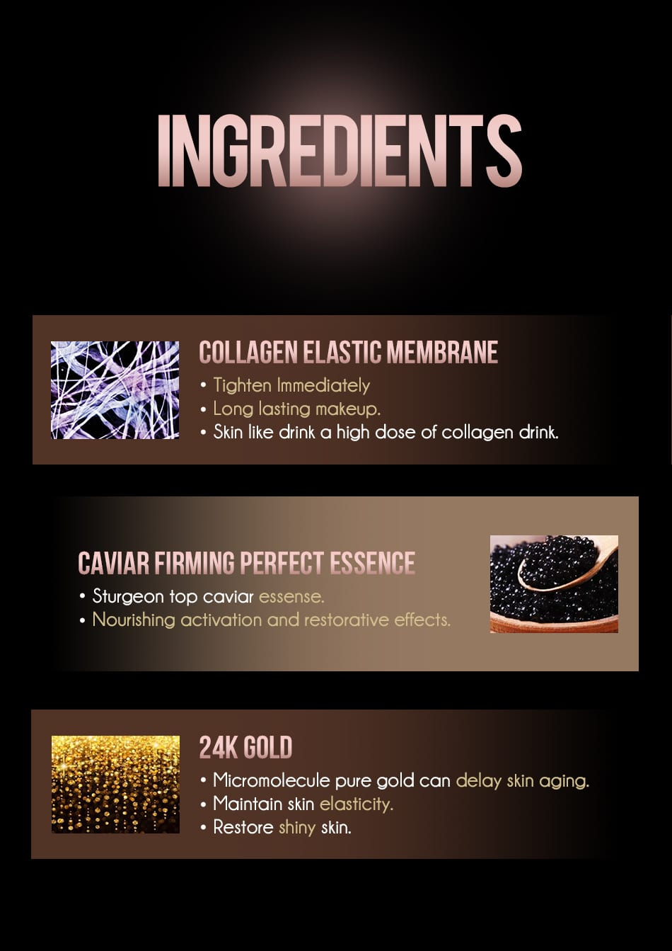 Caviar Elastic Liquid Foundation - Product Ingredients