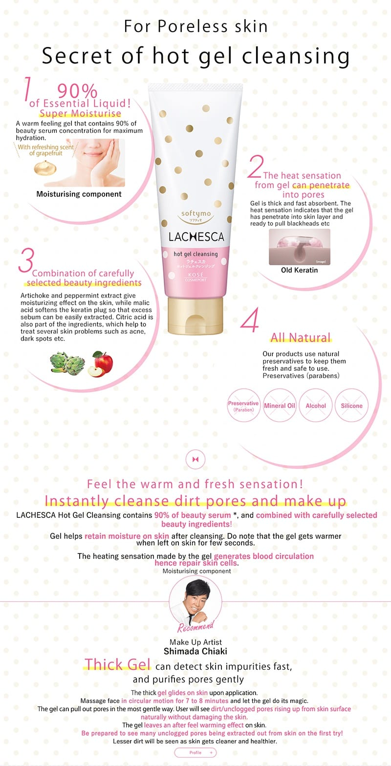 Lachesca Hot Gel Cleansing - Feature 1