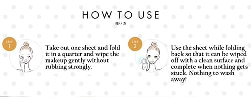 Softymo Lachesca Cleansing Sheet - How to use
