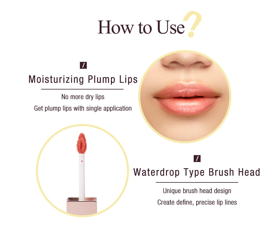 Beautymaker Water Glossy Stain - How to use