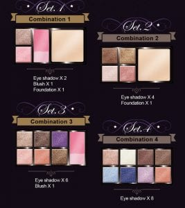 Glamorous Eyeshadow Pearl Series - Introduction combination