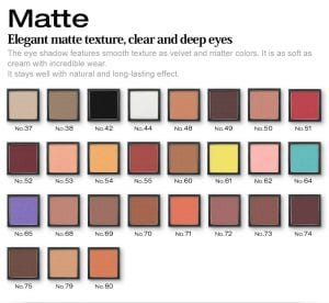 Glamorous Eyeshadow Matte Series - Colors