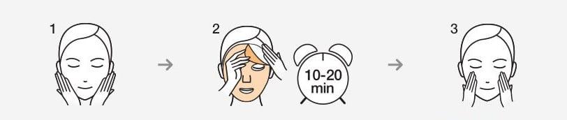 V7 Toning White Mask - How to use