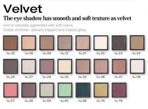 Glamorous Eyeshadow Velvet Series - Colors