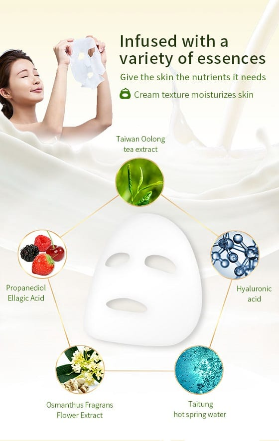 Oolong Whitening Spa Mask - Product Ingredients