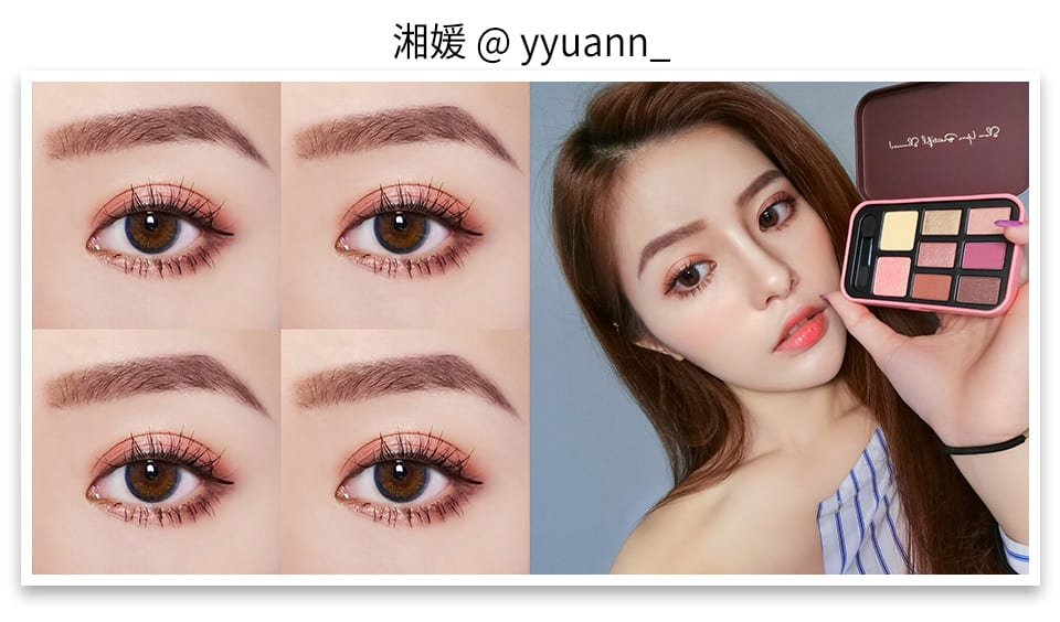 Solone Classic Eyeshadow Kit - Joyful Berry look