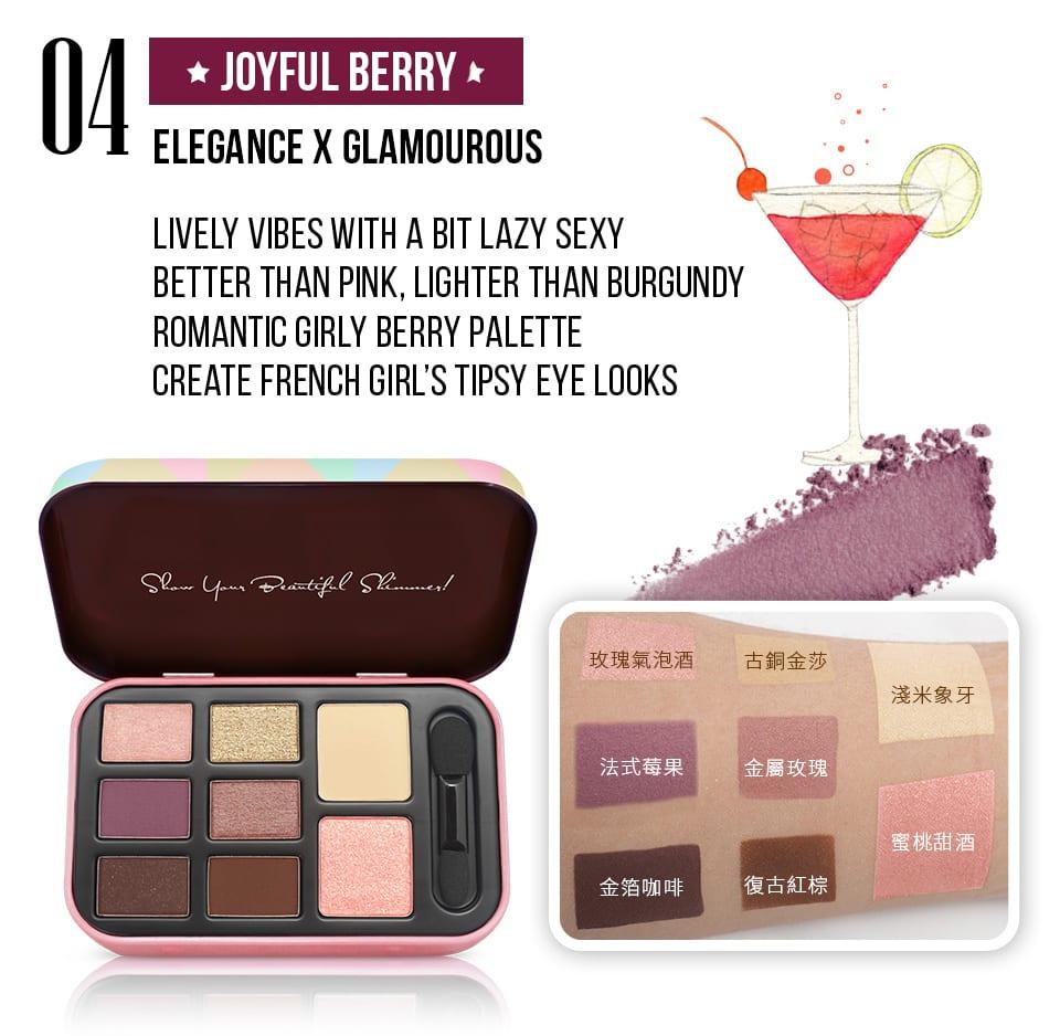 Solone Classic Eyeshadow Kit - Joyful Berry colors