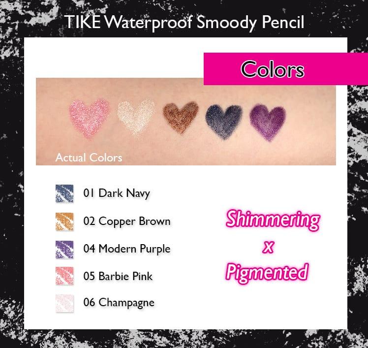TIKE Waterproof Smoody Pencil - Colors