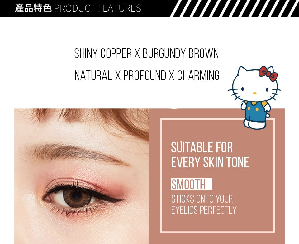 Solone Hello Kitty Eyeshadow Kit features