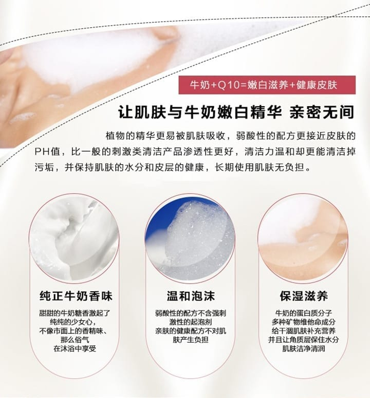 Beauty Buffet Whitening Milk Bath Cream - features 2